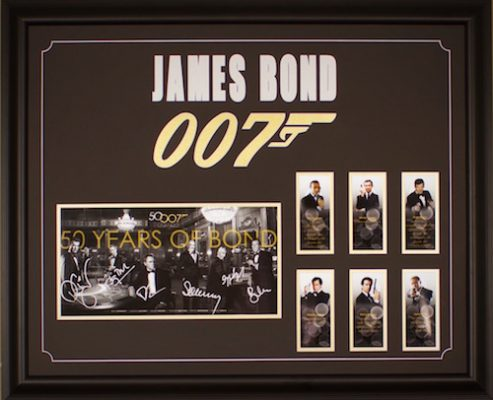 Charity Auction Items - Autographed 16×20 Movie Posters - James Bond B-W Limited Edition