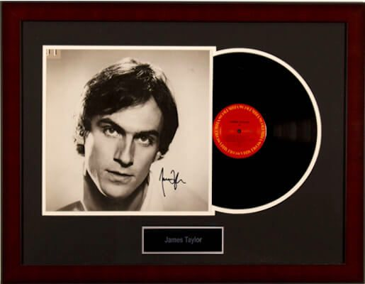 Charity Auction Items - Autographed Record Albums - James Taylor