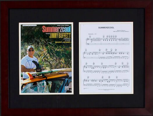Charity Auction Items - Autographed Sheet Music - Jimmy Buffet