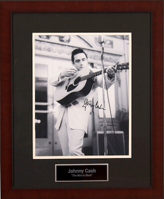 Charity Auction Items - Autographed Musician Photos - Johnny Cash