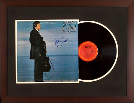Charity Auction Items - Autographed Record Albums - Johnny Cash