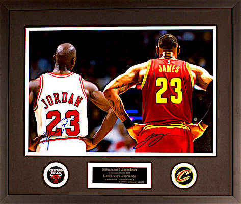 Charity Auction Items - Autographed Sports Memorabilia - Jordan (Bulls) James (Cleveland)