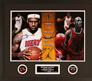 Charity Auction Items - Autographed Sports Memorabilia - Jordan (Bulls) James (Heat)