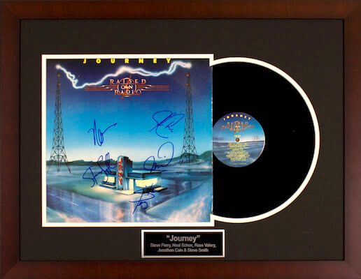 Charity Auction Items - Autographed Record Albums - Journey