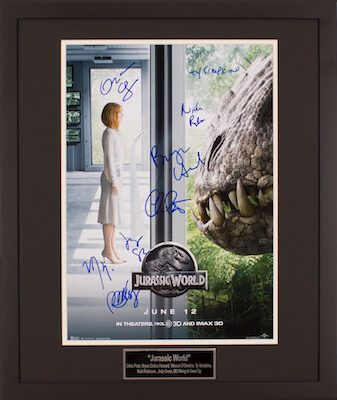 Charity Auction Items - Autographed 16×20 Movie Posters - Jurasaic World