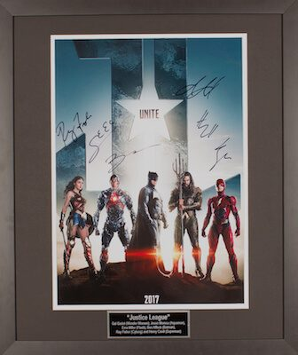 Charity Auction Items - Autographed 16×20 Movie Posters - Justice League 1