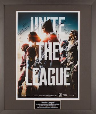 Charity Auction Items - Autographed 16×20 Movie Posters - Justice League 2