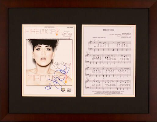 Charity Auction Items - Autographed Sheet Music - Katy Perry