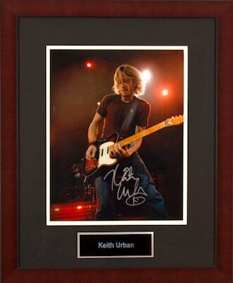 Charity Auction Items - Autographed Musician Photos - Keith Urban