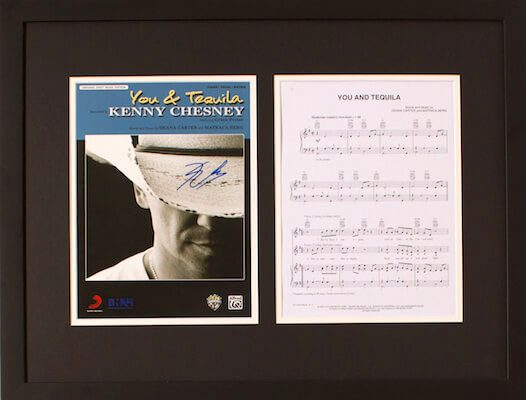 Charity Auction Items - Autographed Sheet Music - Kenny Chesney