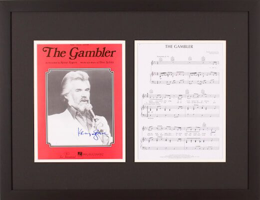 Charity Auction Items - Autographed Sheet Music - Kenny Rogers