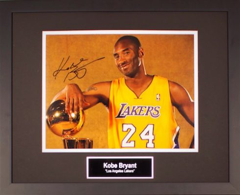 Charity Auction Items - Autographed Sports Memorabilia - Kobe Bryant