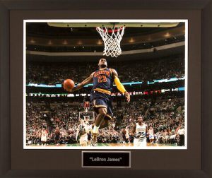 Charity Auction Items - Autographed Sports Memorabilia - LeBron James 16x20 Photo