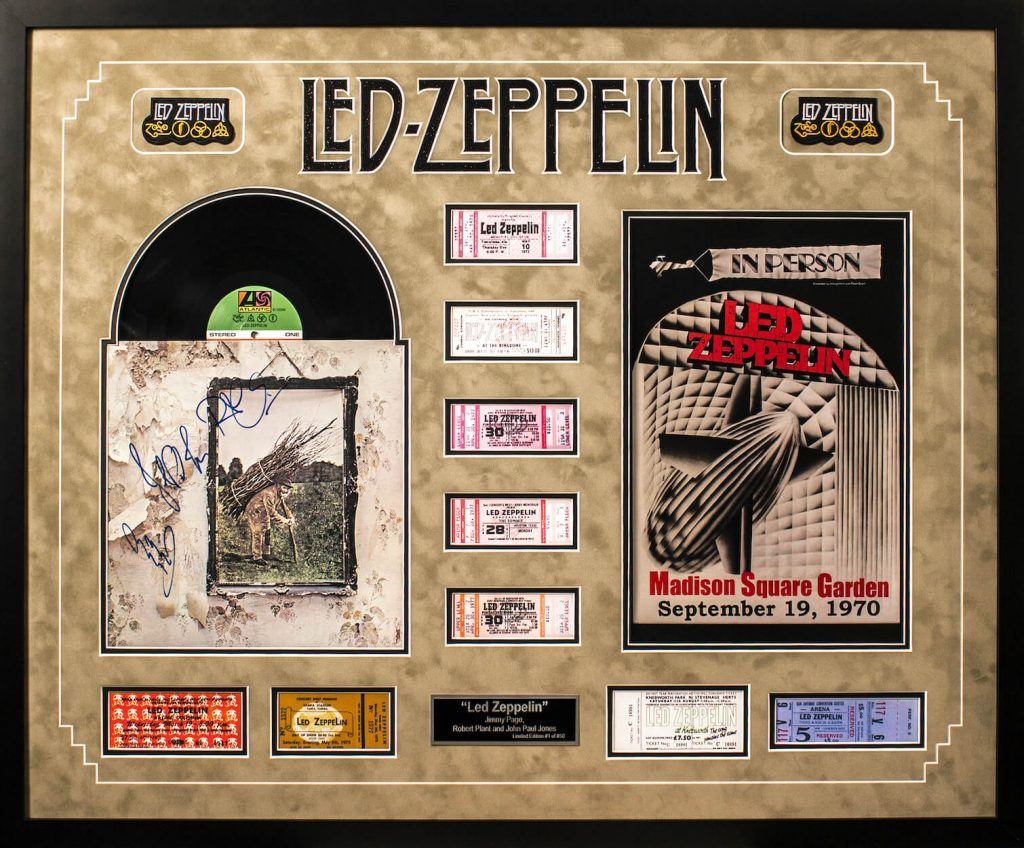 Led Zeppelin Autographed Record Album