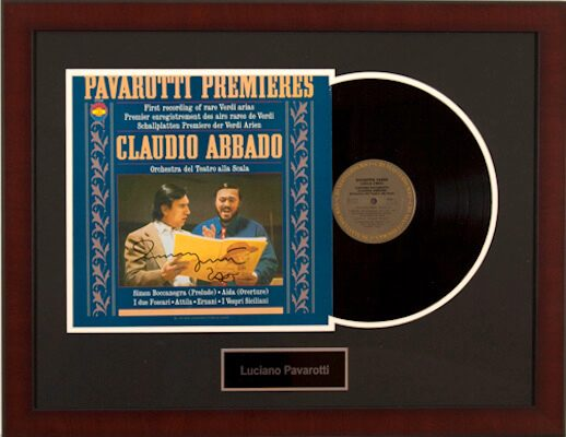 Charity Auction Items - Autographed Record Albums - Luciano Pavarotti