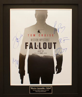 Charity Auction Items - Autographed 16×20 Movie Posters - MISSION IMPOSSIBLE FALLOUT