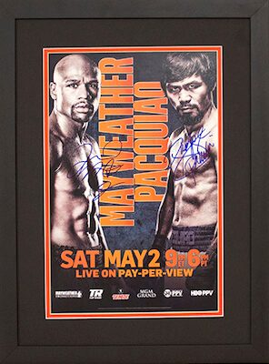 Charity Auction Items - Autographed Championship Boxing Posters - Mayweather Jr. Pacquiao