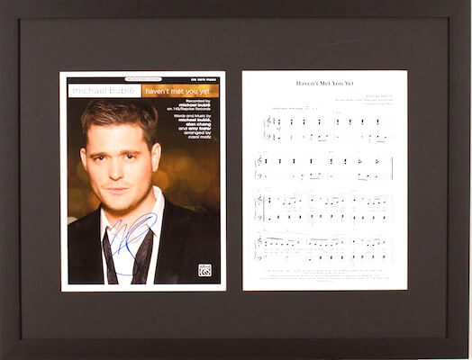 Charity Auction Items - Autographed Sheet Music - Michael Buble