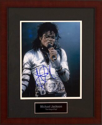 Charity Auction Items - Autographed Musician Photos - Michael Jackson
