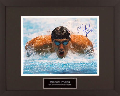Charity Auction Items - Autographed Sports Memorabilia - Michael Phelps 11x14 Photo
