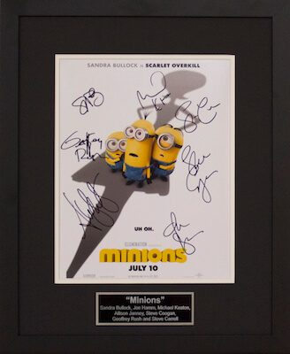 Charity Auction Items - Autographed Animation Art - Minions