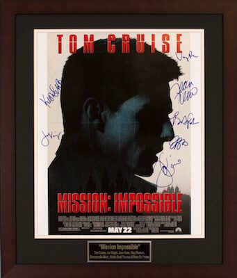 Charity Auction Items - Autographed 16×20 Movie Posters - Mission Impossible