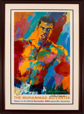 Charity Auction Items - Autographed Championship Boxing Posters - Muhammad Ali Lithograph