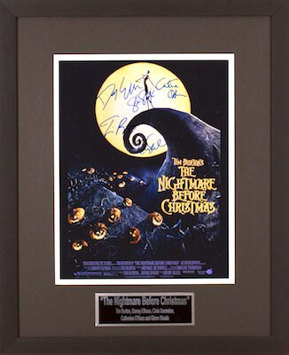 Charity Auction Items - Autographed Animation Art - Nightmare Before Christmas