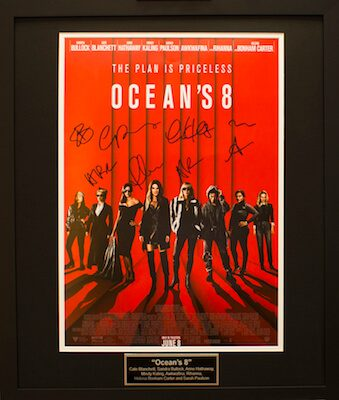 Charity Auction Items - Autographed 16×20 Movie Posters - OCEANS 8