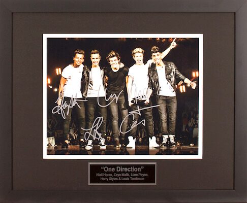Charity Auction Items - Autographed Musician Photos - One Direction