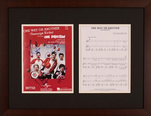 Charity Auction Items - Autographed Sheet Music - One Direction