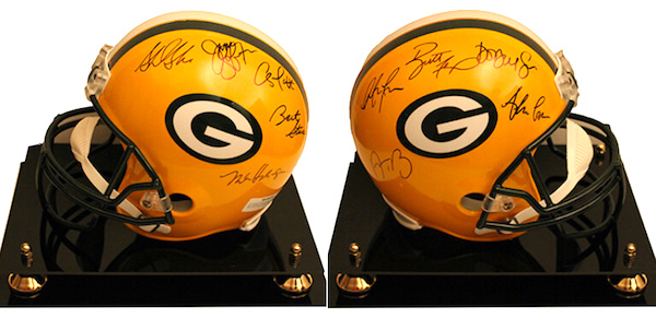 Charity Auction Items - Autographed NFL Team Legends Helmets - Packers Legends