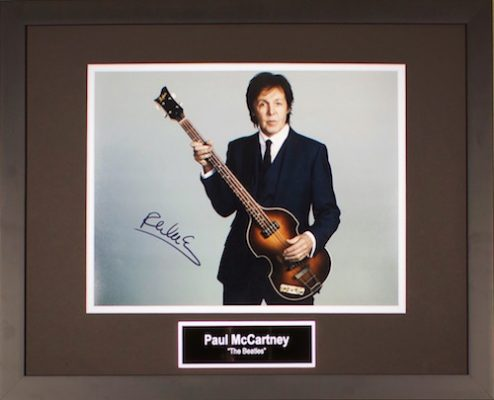 Charity Auction Items - Autographed Musician Photos - Paul McCartney