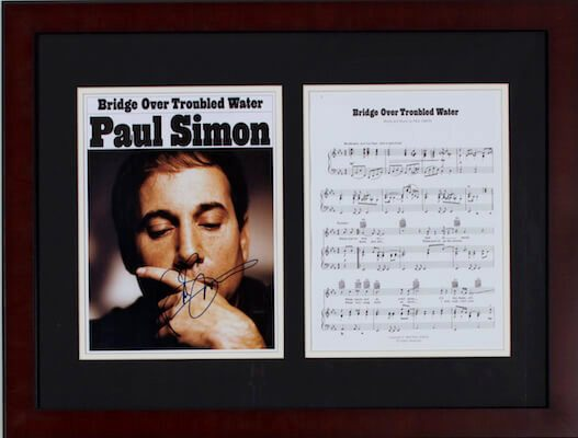 Charity Auction Items - Autographed Sheet Music - Paul Simon