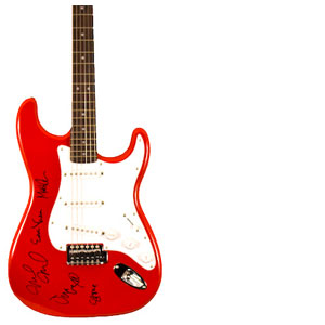 Charity Auction Items - Autographed Guitars -Perl Jam Guitar