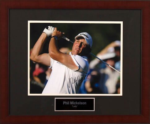 Charity Auction Items - Autographed Sports Memorabilia - Phil Mickelson 11x14 Photo
