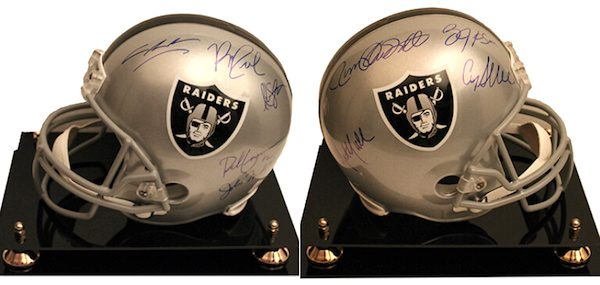 Charity Auction Items - Autographed NFL Team Legends Helmets - Raiders Legends