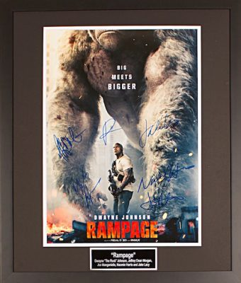 Charity Auction Items - Autographed 16×20 Movie Posters - Rampage