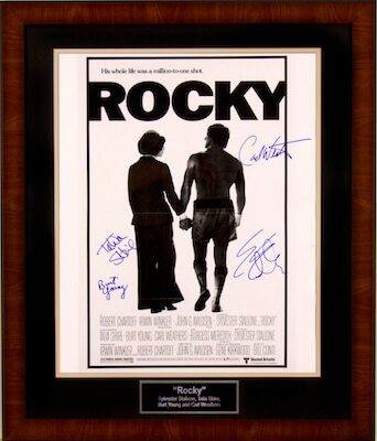 Charity Auction Items - Autographed 16×20 Movie Posters - Rocky