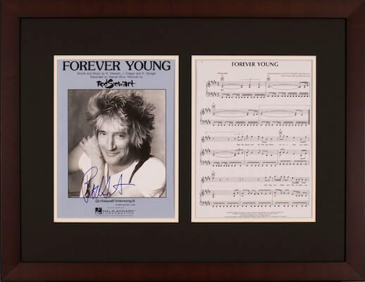 Charity Auction Items - Autographed Sheet Music - Rod Stewardt