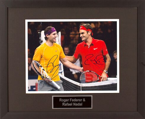 Charity Auction Items - Autographed Sports Memorabilia - Roger Federer and Rafael Nadal 11x14 Photo
