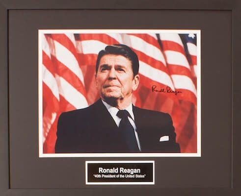 Charity Auction Items - Autographed Presidential Photos - Ronald Reagan