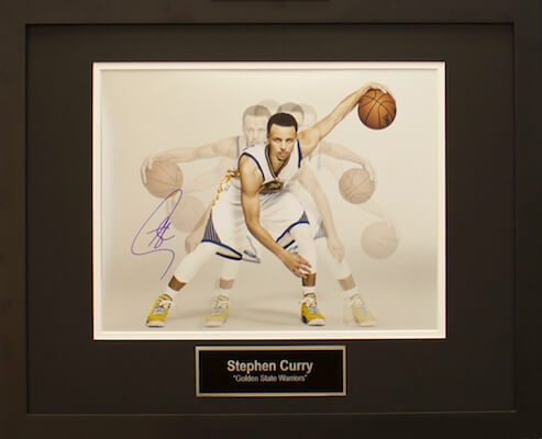 Charity Auction Items - STEPHEN CURRY- -Autographed Sports Memorabilia