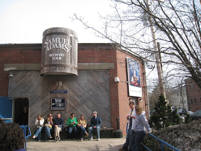 Samuel Adams Brewery Tour.