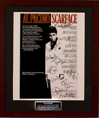Charity Auction Items - Autographed 16×20 Movie Posters - Scarface