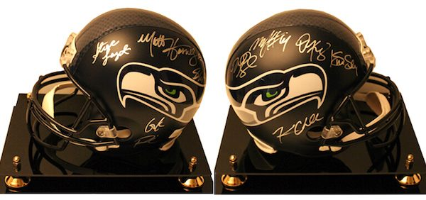 Charity Auction Items - Autographed NFL Team Legends Helmets -Seahawks Legends
