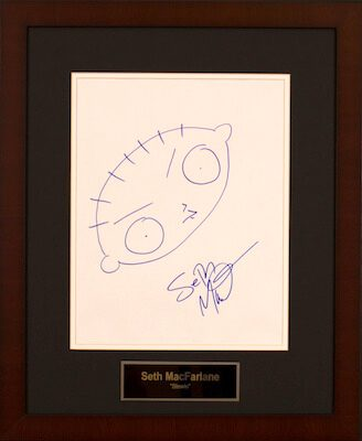 Charity Auction Items - Autographed 11×14 Celebrity Sketches - Seth McFarlane Sketch