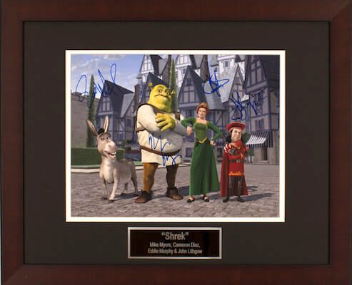 Charity Auction Items - Autographed Animation Art - Shrek