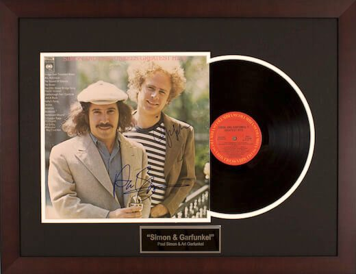 Charity Auction Items - Autographed Record Albums - Simon Garfunkle