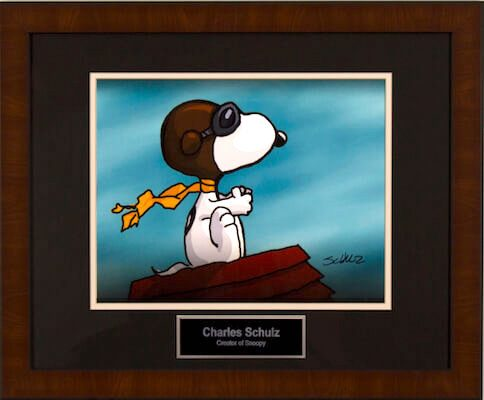 Charity Auction Items - Autographed Animation Art - Snoopy VS Red Baron